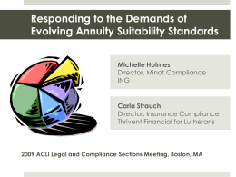 Responding to the Demands of Evolving Suitability Standards