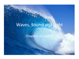 PS Unit 4 Waves, Sound and Light