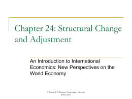 Chapter 24. Structural Change and Adjustment.