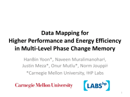 Data Mapping for Higher Performance and Energy Efficiency in Multi