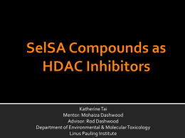 HDAC Inhibition of SelSA Compounds