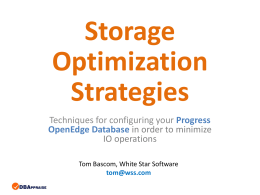 Storage Optimization Strategies - Tom Bascom
