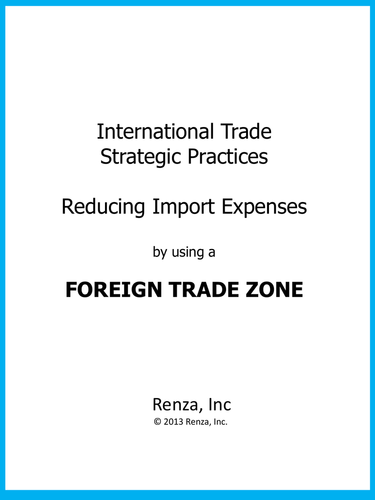 Using a Foreign Trade