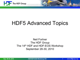 Presentation - HDF-EOS Tools and Information Center