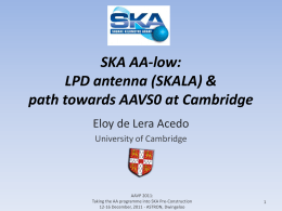 SKALA: A log-periodic antenna for the SKA-AAlo