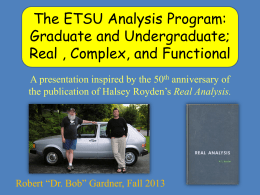PowerPoint - faculty - East Tennessee State University