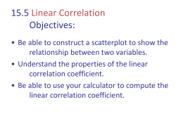 15.5 Linear Correlation Objectives: