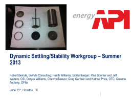 API 2013 Summer Meeting Presentation on