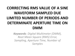 CORRECTING RMS VALUE OF A SINE WAVEFORM SAMPLED DUE LIMITED NUMBER