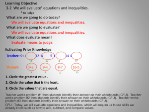 Equations and Inequalities (PowerPoint)