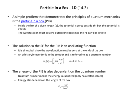 Particle-in-a-box