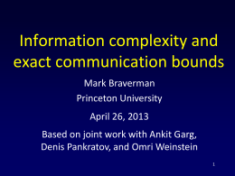 Information complexity and exact communication bounds