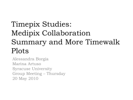 Timepix Studies: Medipix collaboration summary and more timewalk