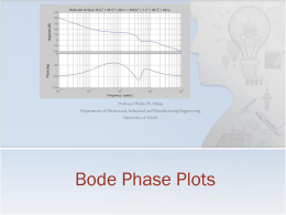 Lecture 20: Bode Plots: Phase