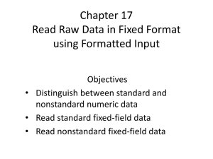 Chapter 17 Read Raw Data in Fixed Format