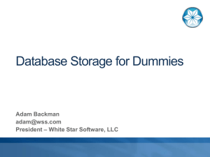 Database Storage for Dummies