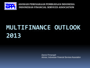 MULTIFINANCE OUTLOOK 2013