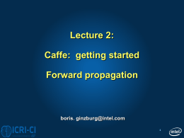 Lecture 2 Caffe - getting started