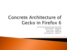 Concrete Architecture of Firefox 6