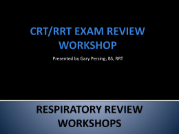 CRT/RRT EAM REVIEW WORKSHOP