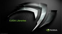 CUDA Libraries