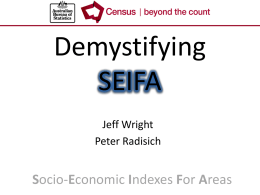 Demystifying SEIFA