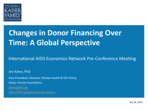 Changes in Donor Financing Over Time
