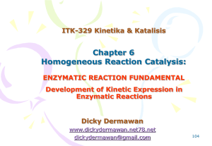 6-Enzymatic Rxn Fundamental - Dicky Dermawan