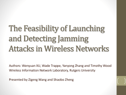 A REVIEW : *The Feasibility of Launching and Detecting Jamming