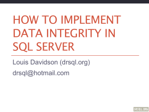 How to Implement Data Integrity In SQL Server