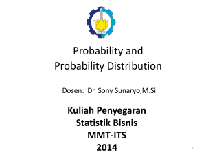Probability Distribution - Home