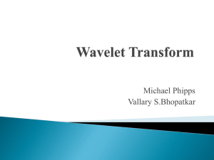 Wavelet transform Ch 13.?