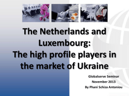 Netherlands-and-Luxembourg. - Globalserve Consultants Ltd