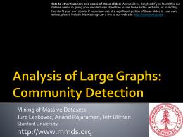 PPT - Mining of Massive Datasets