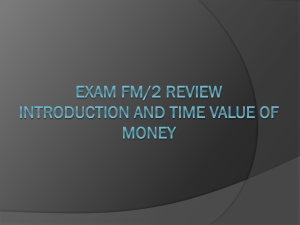 Intro and Time Value of Money