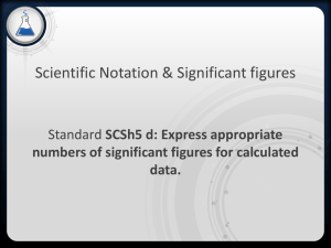 Scientific Notation & Significant figures