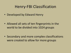 Henry-FBI Classification