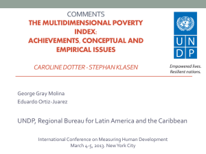 George Molina Gray - Human Development Reports