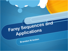 Farey Sequences and Applications