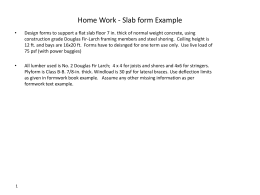 Home Work - Slab form Example