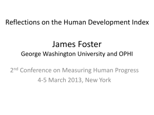 James Foster - Human Development Reports
