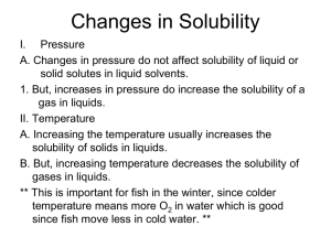 Solubility & Molarity Notes