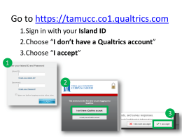 Qualtrics Quick Start Guide