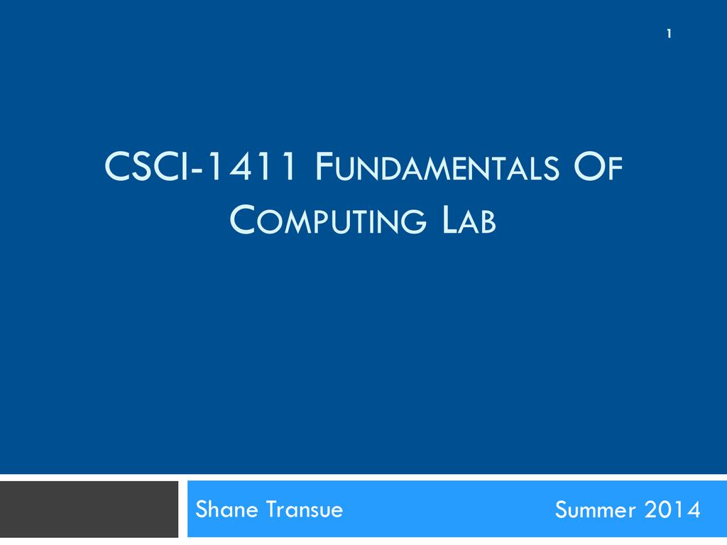 Csci 1411 lab 2 falaconquin
