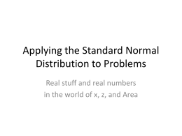6.2 Standard Normal Distribution Applications