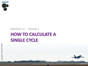 GasTurb 12: How to Calculate a Single Cycle