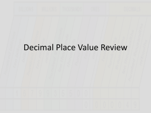 Decimal Place Value Review