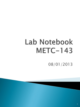 Lab Notebook METC-143 - Ivy Tech Engineering