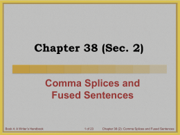 comma splice vs fused sentence