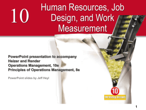 Human Resources and Job Design